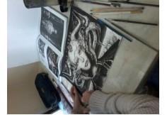 Dibujo en tinta china trabajo alumna del taller